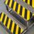 Vloertape rol anti-slip | 50-100mm breed | geel/zwart | lengte 18,3 meter