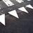 Markering haaientand witte wegenverf
