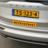 Autobord 1500x300mm geel FLUOR met eigen tekst