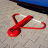 Crash proof Antiparkeerbeugel - rood - neerklapbaar - cilinderslot
