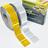 Contourmarkering geel - 50x50mm stickers - op rol 12,5 of 50 meter