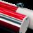 Hoogtebalk doorrijhoogte - rood/wit ø60mm met ophangogen
