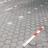 Neerklapbare antiparkeerpaal 70x70mm met slot (in maaiveld/bestrating)