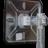 Verkeersspiegel RVS  600x450 + beugelset ø76mm