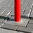 Parkeerpaal Ø89,750mm met betonvoet 295x295x350mm - vaste uitvoering