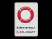 informatiebord reflecterend eigen ontwerp boot verhuur met foto