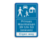 informatiebord reflecterend met eigen ontwerp eigen weg woonerf denk aan onze kinderen