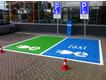 Markering & belijning elektrisch TAXI-standplaats
