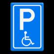 Verkeersbord RVV E06 - Parkeren minder validen