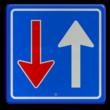 Verkeersbord RVV F06 - Tegenligger moet wachten