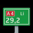 Hectometerbord BB08 Li