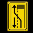 Verkeersbord T31-2l geel/zwart