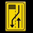 Verkeersbord T31-2r geel/zwart
