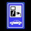 Verkeersbord RVV BW101_SP19 - auto laadpunt - BE02