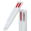 Bermpaal kunststof - type Harpoon met reflectoren - 1200x110x50mm