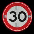 Klapbord - 3 standen - Rond conform RVV
