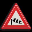 Verkeersbord RVV J31 - Vooraanduiding zijwind