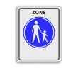 Verkeersbord RVV G07zb - Start voetgangerszone