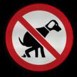 Verkeersbord hond - type B