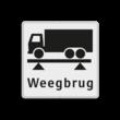 Verkeersbord RVV OBD08 Onderbord - weegbrug