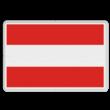 Scheepvaartbord BPR A. 1 - Invaart, uitvaart of doorvaart verboden