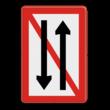 Scheepvaartbord BPR A. 4 - Ontmoeten en voorbijlopen verboden