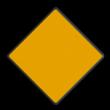 Scheepvaartbord BPR D. 1a - Aanbevolen doorvaart- opening, doorvaart uit tegengestelde richting toegestaan