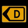 Omleidingsbord - T201l-d - Werk in uitvoering