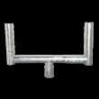 Opzetstuk Ø76mm staal - voor montage 2 verkeersspiegels