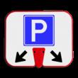 ConeSign - informatiepaneel kunststof voor op afzetkegel