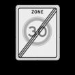 Verkeersbord RVV A02-30ze - Einde zone maximum snelheid