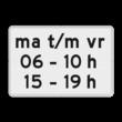 Verkeersbord RVV OB206p2 - Onderbord - Geldt alleen voor periode