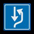 Verkeersbord RVV L20 - uitwijkplaats rechts