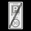 Verkeersbord RVV A0130E10-2ze - ZONE bord einde