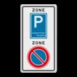 Verkeersbord RVV E01E09zb - ZONE bord begin