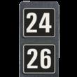 Huisnummerpaal met 2 borden reflecterend 119x109mm