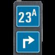 Huisnummerpaal met BORD Modern met pijl - klasse 3