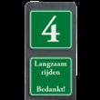 Huisnummerpaal met BORD Klassiek met tekst - klasse 3