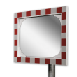 Verkeersspiegel acryl - 600x400mm - met opvallend rood/wit kader