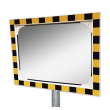 Veiligheidsspiegel acryl - 800x600mm - met opvallend geel/zwart kader