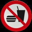 Pictogram P022 - Eten en drinken verboden