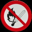 Pictogram P003 - Vuur, open vlam en roken verboden