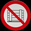 Pictogram P023 - Verboden goederen neer te zetten