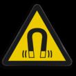 Pictogram W006 - Gevaar voor magnetisch veld