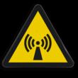Pictogram W005 - Gevaar voor niet-ioniserende straling