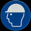 Pictogram M014 - Veiligheidshelm verplicht