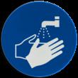 Pictogram M011 - Handen wassen verplicht