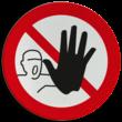 Pictogram P000 - Verboden toegang voor onbevoegden