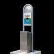 Hondenpoep dispenser GEPP - RVS - 400x400x1500mm