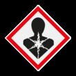 Pictogram GHS08 - Lange termijn gezondheidsgevaarlijke stoffen